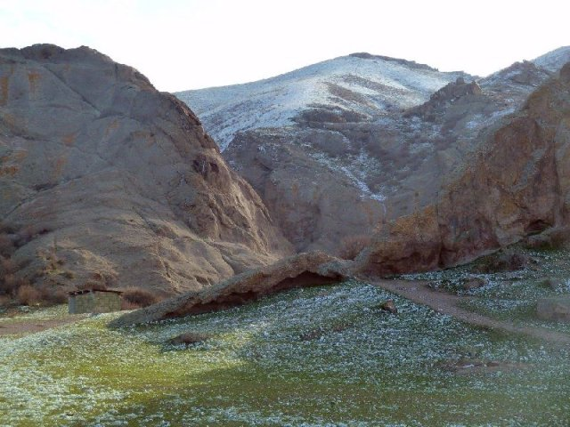 Canyon at Ili River near Tamgaly, Kazakhstan Oct 2014