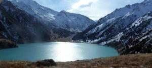 Big Almaty Lake, Ili-Alatau National Park, Kazakhstan, October 2014.  This reservoir provides water for the city.