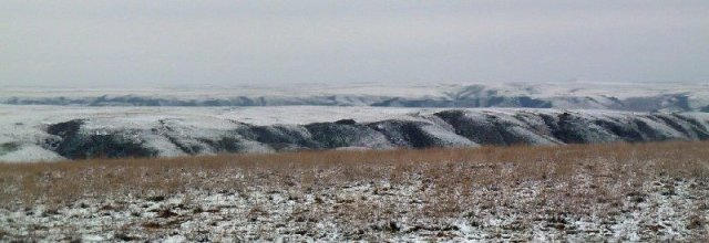Rim of Ili River Valley from Kazakhstan Steppes Oct 2014