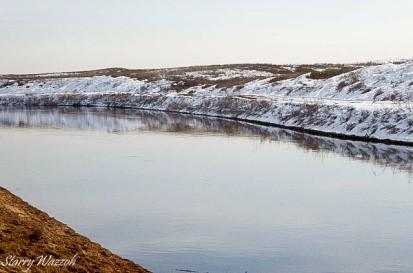 Canal in Kazakhstan in Feb 2016
