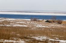 Farmstead on the Plains of Kazakhstan